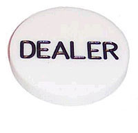 49mm Dealer Button white
