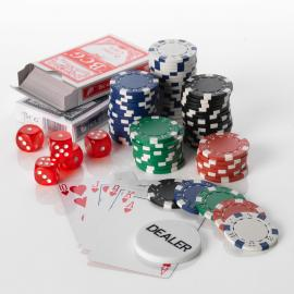500pcs Poker set 11.5G Casino Dice 5 colours