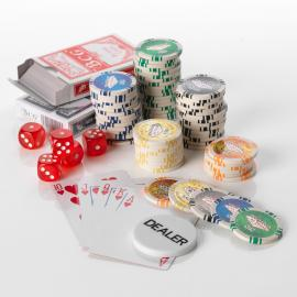 500pcs Poker set 11.5G Las Vegas  5 colours - HV