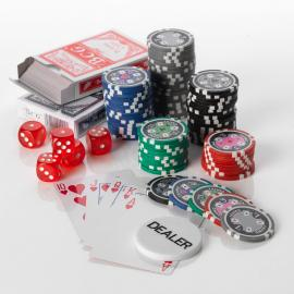 500pcs Poker set 13.5G Casino Ace  5 colours