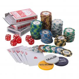 1000pcs Poker set 14G Monte Carlo 10 Colours - All Values