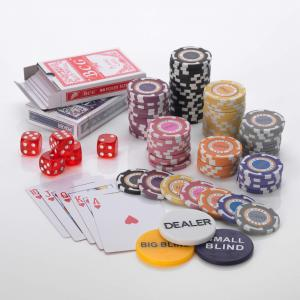 500pcs Poker set 14G SP CASH CLUB 7 Colour CASH CHIPS