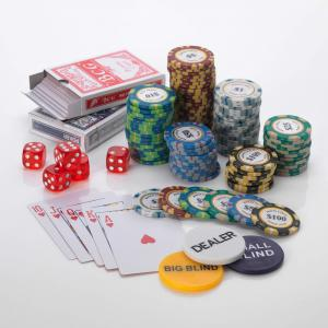 500pcs Poker set 15G Monte Carlo 6/7 Colours Low or High Values