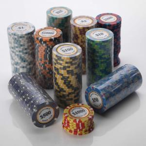 Loose Poker Chips 14G Monte Carlo Casino Design