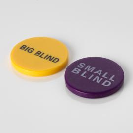 49mm Big Blind and Small Blind Buttons
